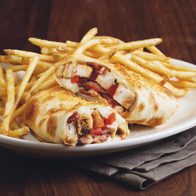 Find A Code >> Chicken Bacon Ranch Piadina Lunch Special | Menu | BJ's