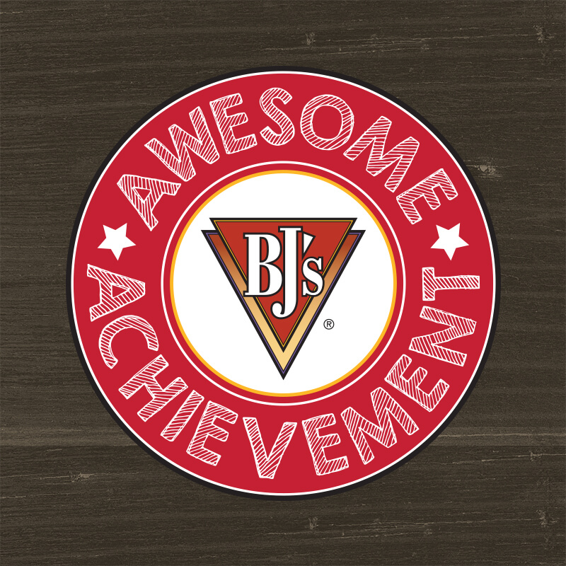 BJ's Awesome Achievement Badge - BJ's Restaurant & Brewhouse