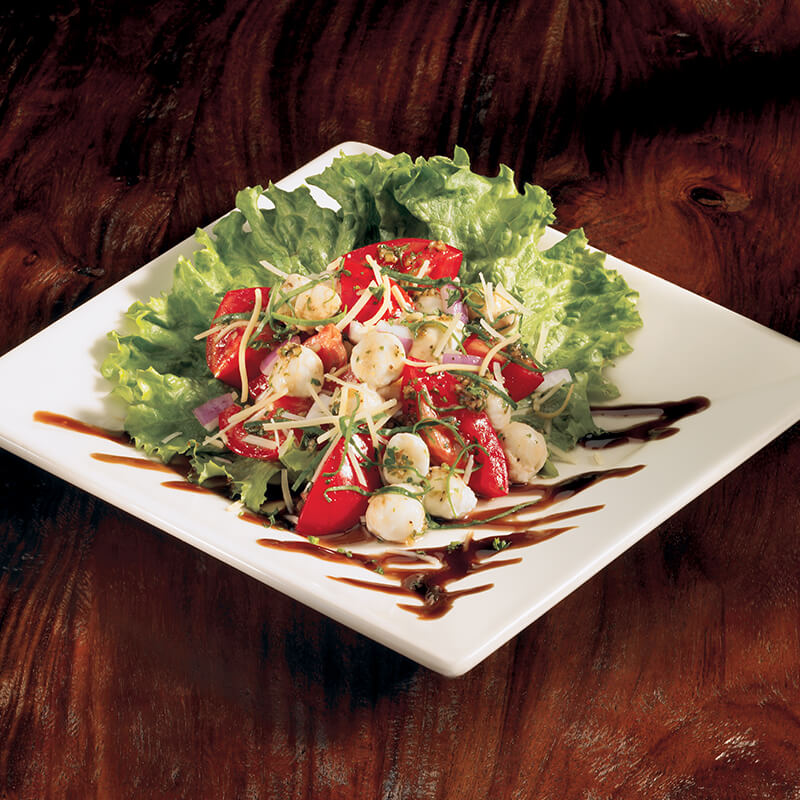 Look Up Number >> Fresh Mozzarella and Tomato Salad | Menu | BJ's Restaurants and Brewhouse