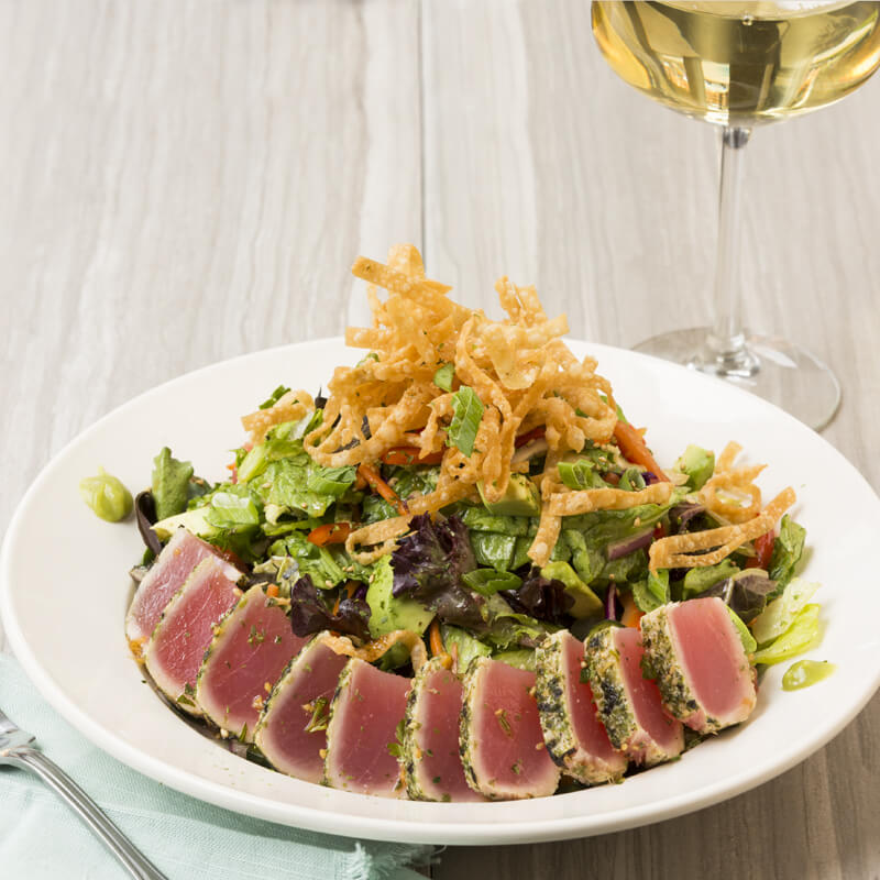 Seared Ahi Tuna Salad - BJ's Enlightened Favorites - BJ's Restaurant & Brewhouse