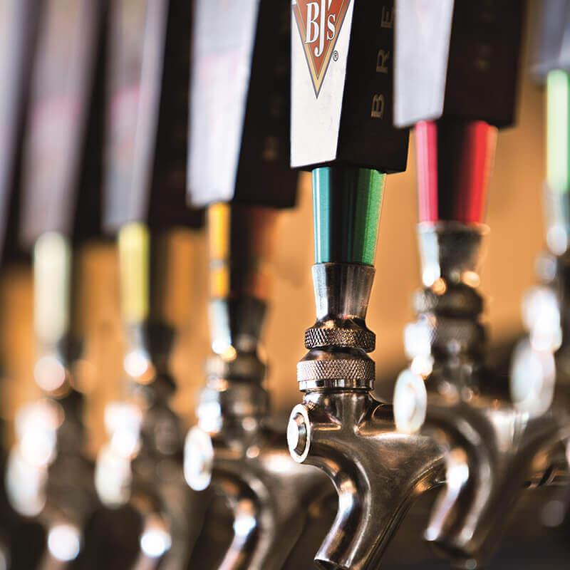 BJ's Restaurant & Brewhouse Craft Beer Taps