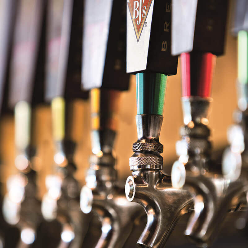 Beer Taps at BJ's Restaurant & Brewhouse