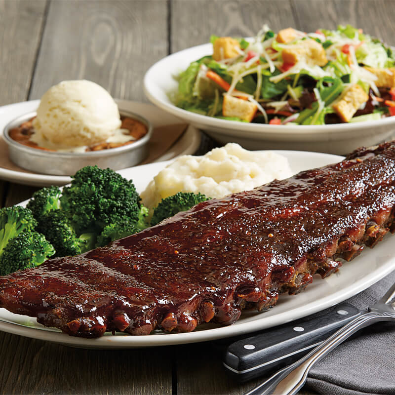BBQ Baby Back Ribs & Mashed Potatoes - Daily Brewhouse Specials - BJ's Restaurant & Brewhouse