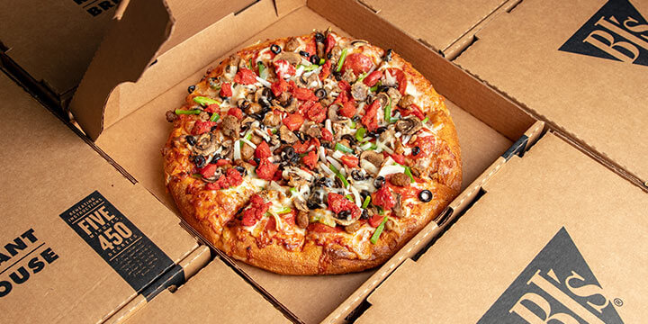 Off Large Pizza For Take Out Delivery