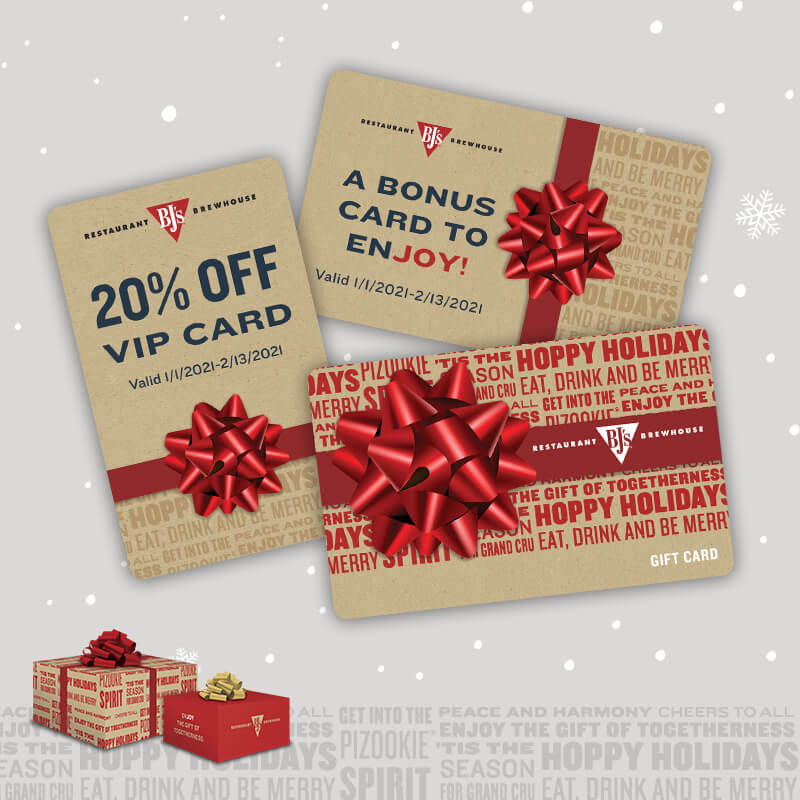 Restaurant Gift Card Christmas 2020 Promotions BJ's Restaurant & Brewhouse Special Offers | Online Order Promo